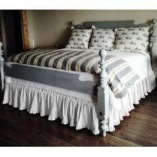 Подзор на кровать Рюши Модель 2 Белый
