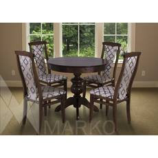 """Комплект круглий столик """"Лео"""" + стільці """"Марек 4"""" горіх темний, купити в Луцьку"""