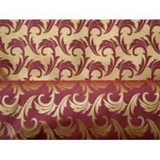 Столовая ткань премиум класса мати (рис. 17), веточка, золото с бордовым