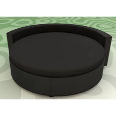 Круглая простынь на кровать Модель 2 Черная