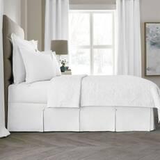 Спідниця для ліжка Біла Модель 3 строгий Мodern
