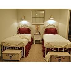 Подзор на кровать Рюши Модель 5 Винный