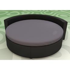 Простынь на Круглую кровать Модель 2 Графит Стильные полоски
