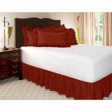 Подзор на кровать Рюши Модель 7 Винный