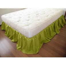 Підзор на ліжко Рюші Модель 4 Салатовий
