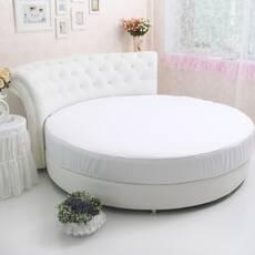 Круглая простынь на кровать Модель 2 Белая