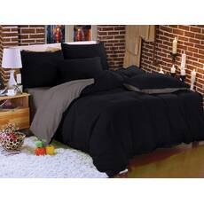 Комплект постельного белья Двухсторонний Черный + Порох