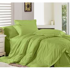 Комплект постельного белья Премиум Сатин Салатовый