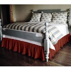 Подзор на кровать Рюши Модель 2 Винный