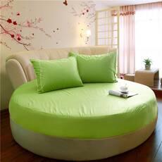 Круглая простынь на кровать Модель 2  Салатовая