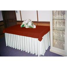 Фуршетная юбка Модель 6 Белый + Винный