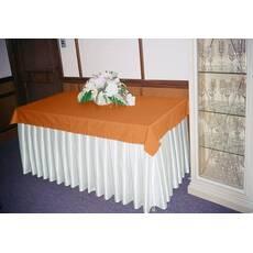 Фуршетная юбка Модель 6 Белый + Медовый