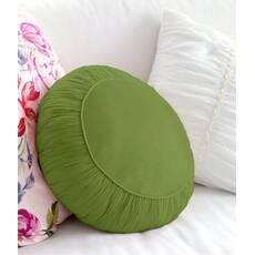Декоративная подушка, модель 2, круглая, Cалатовый