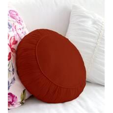 Декоративная подушка, модель 2, круглая, Винный