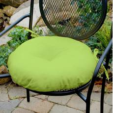 Декоративная подушка на сиденье модель 3 круглая на завязках Салатовый
