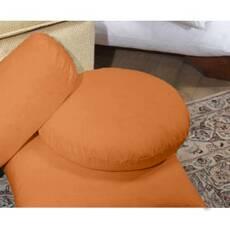 Декоративная круглая  подушка модель 3 Медовый
