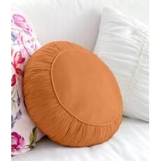 Декоративная подушка, модель 2, круглая, Медовая