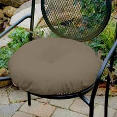 Декоративная подушка на сиденье модель 3 круглая на завязках Порох