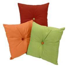 Декоративная подушка квадратная c пуговицей