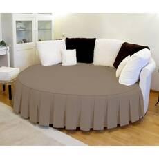 Покрывало на круглую кровать с юбкой модель 3 Порох