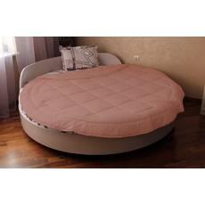 Покрывало на круглую кровать с бортом модель 2 Коралл