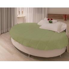 Покривало на кругле ліжко модель 1 Олива