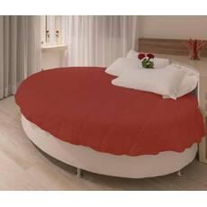 Покрывало на круглую кровать модель 1 Винный