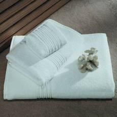 Полотенце махровое с антибатериальной защитой белое с узором 100*150