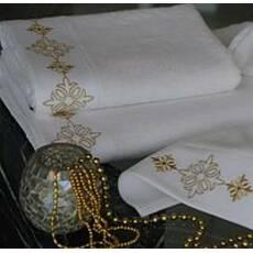 Полотенце махровое с вышивкой и стразами Драхома 50*100