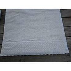Полотенце махровое с кружевом Пери Белый 70 * 140