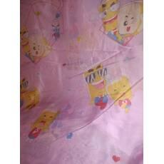 Дитяча тюль Баночки рожева