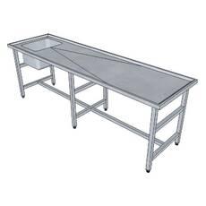 Стіл для розкриття з ванною штампованої СДВВШ