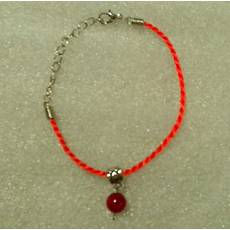 Червона нитка-браслет з натуральним природним рубіном 10 мм