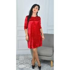 b9b38ee6d9545c1 Нарядное нежное платье из велюра