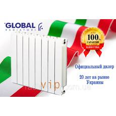 Алюмінієві радіатори опалювання Global VIP 500/100 (Італія)
