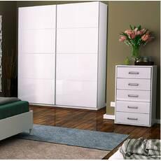 Белые шкафы Белла для спальни