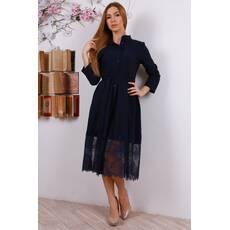 Жіноче міді плаття з гіпюром 306 - Товари - Купити стильні сукні ... 08d355d7b042a