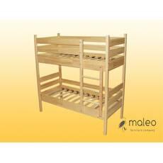 Ліжко дитяче, 2-х ярусне, з натуральної деревини