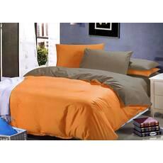 Комплект Двухстороннего постельного белья Оранжевый + Порох
