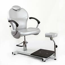 Педикюрное кресло с подставкой на стойке KaterynaLab TOP JETTA