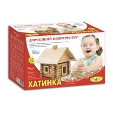 Дерев'яний конструктор Хатинка (68 дет.)