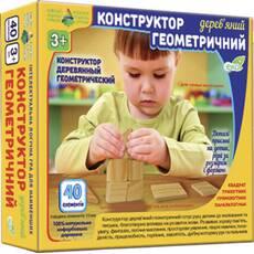 Геометричний дерев'яний конструктор 40 ел.