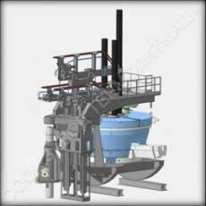 Дугова сталеплавильна піч змінного струму ДСП 12 купити в Україні