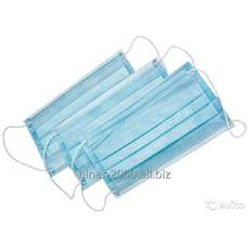 Маска 3-хслойная на резинках одноразовая купить в Полтаве
