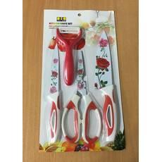 Набір кухонних металокерамічних ножів / ХЕ-41