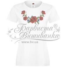 ФЖ-013 Футболка-вишиванка жіноча друкована хрестиком