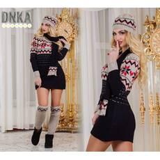 Туника+шарф+гетры+ тонкая шапка №р901 (ГЛ)