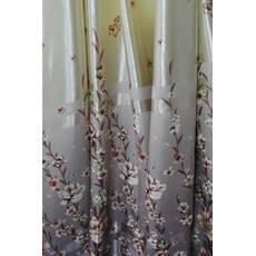 Шторы ткань блэкаут весенние цветы розовые купить в Луцке