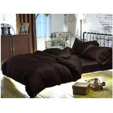 Подростковый комплект постельного белья Коричневый Премиум