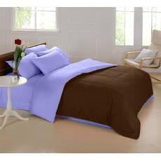 Подростковое двустороннее постельное белье Коричневый + Сирень